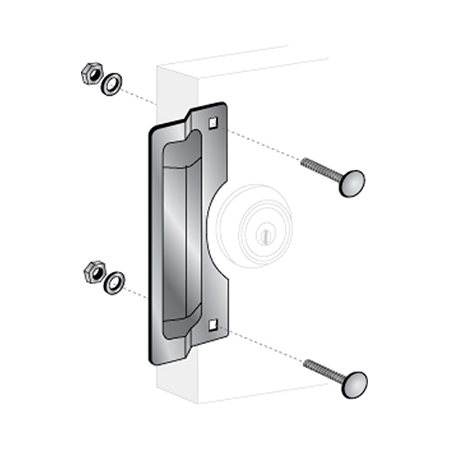"""7"""" Center Rose Latch Protector - ELP-210"""