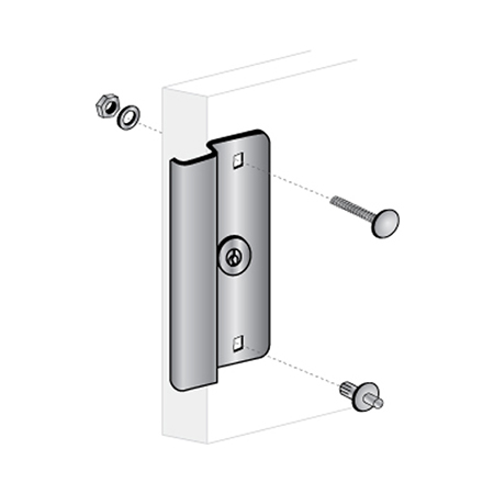 "6-1/2"" Narrow Stile Door Latch Protector - ELP-300"