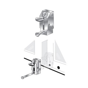 Patio Door Lock - Keyed Lever - EPL-105