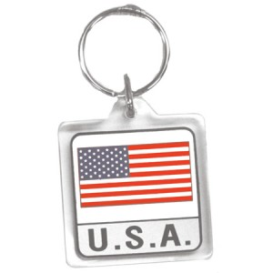 Large USA Key Chain