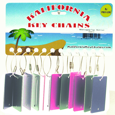 12 pack Aluminum Luggage Tag Key Chain