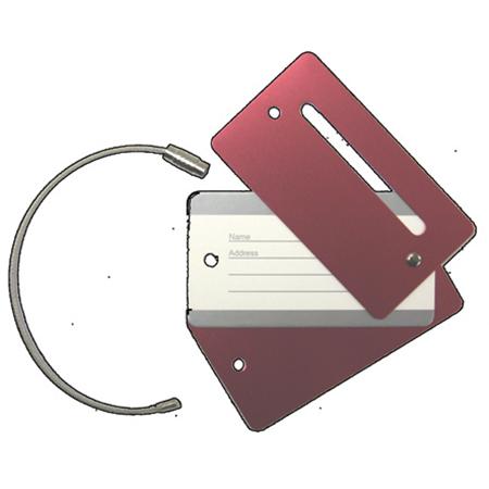 Aluminum Luggage Tag Key Chain