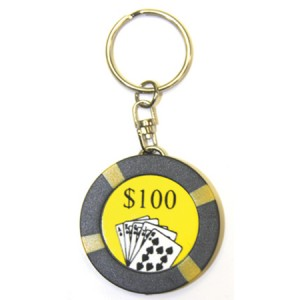 Casino Chip Key Ring