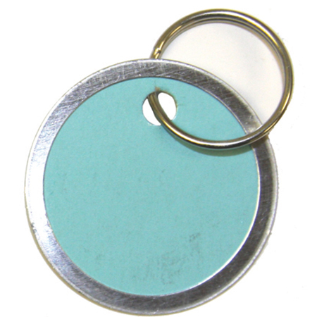"1-1/4"" Colored Key Tag"