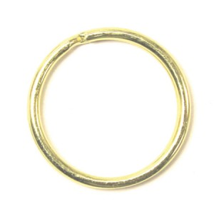 "1-1/8"" Brass Split Key Ring"