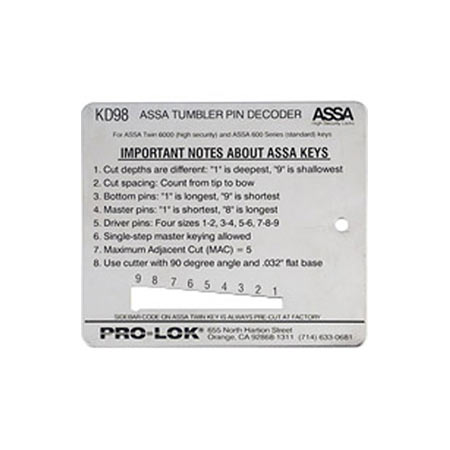 ASSA Key Decoder