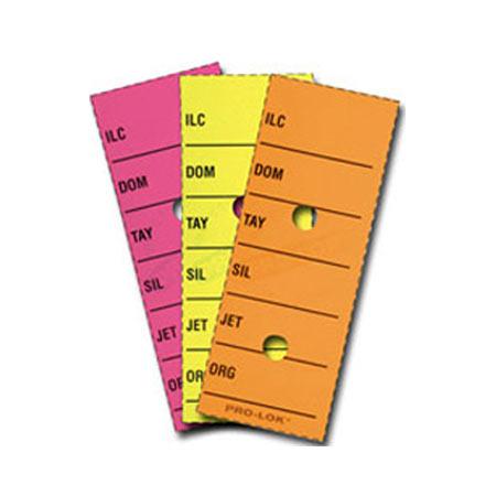 Key Tags Blank Fluorescent Color Pro Lok