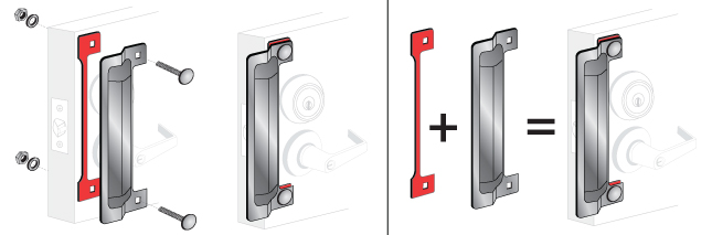 Pro-Lok 11 Latch Protector Kit Featuring 2 Anti-Spread Pin and Installation Spacer Aluminum Finish ELP-250-2-AL